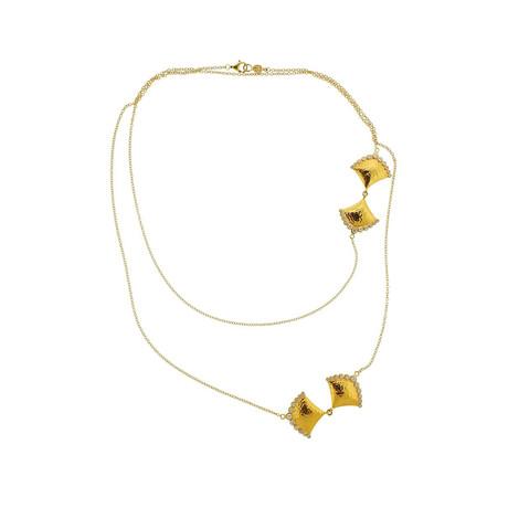 Gurhan 22k Yellow Gold Diamond Station Necklace