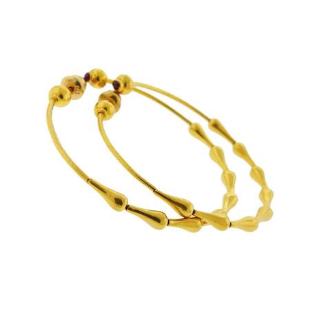Gurhan 24k Yellow Gold Classic Ruby Hoop Earrings