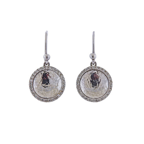 Gurhan 18k White Gold Hourglass Diamond Earrings II