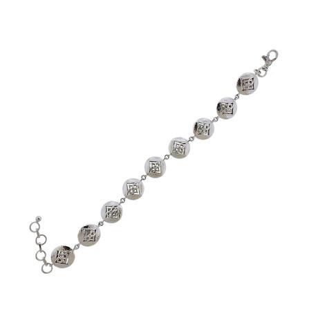 Gurhan 18k White Gold Topkapi Diamond Bracelet