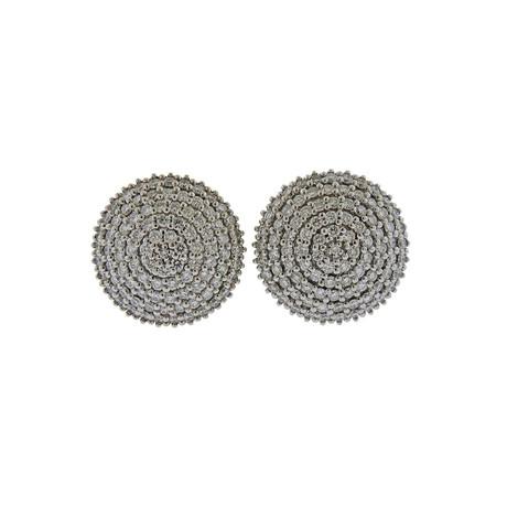 Gurhan 18k White Gold + 24k Yellow Gold Large Lentil Ice Diamond Earrings