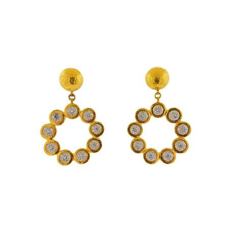 Gurhan 24k Yellow Gold Delicate Diamond Earrings