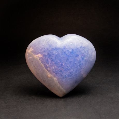 Blue Calcite Heart + Acrylic Display Stand v.2