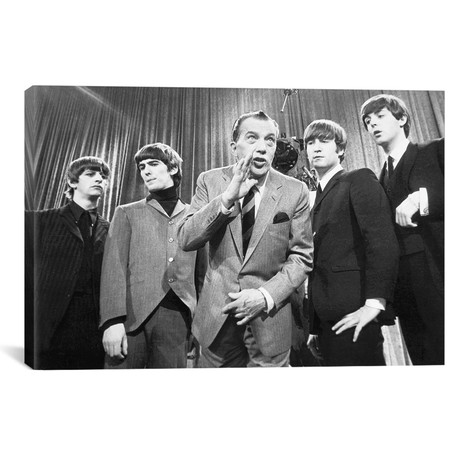 "Beatles And Ed Sullivan // Unknown (18""W x 12""H x 0.75""D)"