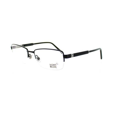 Montblanc // Men's Rectangular Optical Frames // Shiny Black