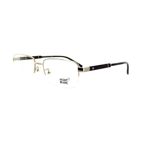 Montblanc // Men's Rectangular Optical Frames // Silver