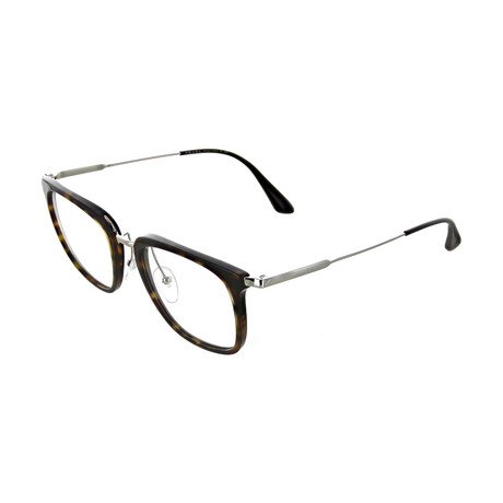 Prada // Men's Tortoise Square Optical Frames // Brown + Silver