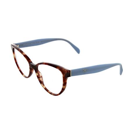 Prada // Women's Square Optical Frames // Brown + Blue
