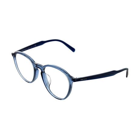 Prada // Men's Square Optical Frames // Transparent Blue