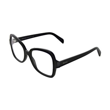 Prada // Women's Square Optical Frames // Black