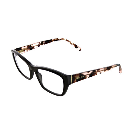 Prada // Women's Rectangular Optical Frames // Dark Brown