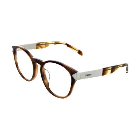 Prada // Women's Square Optical Frames // Brown + White