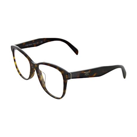 Prada // Women's Tortoise Square Optical Frames V2 // Brown