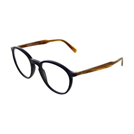 Prada // Men's Square Optical Frames // Navy + Brown