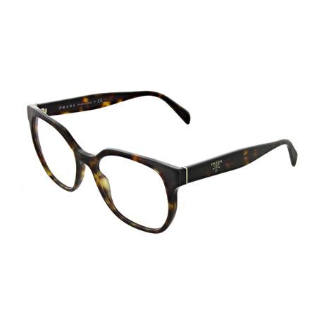Prada // Women's Tortoise Square Optical Frames V1 // Brown