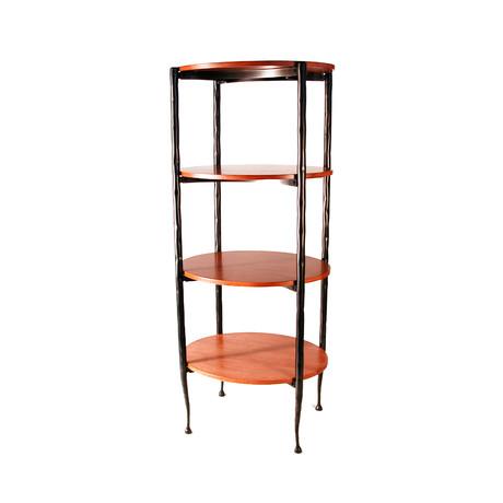 Oval Pan Shelf // Wood