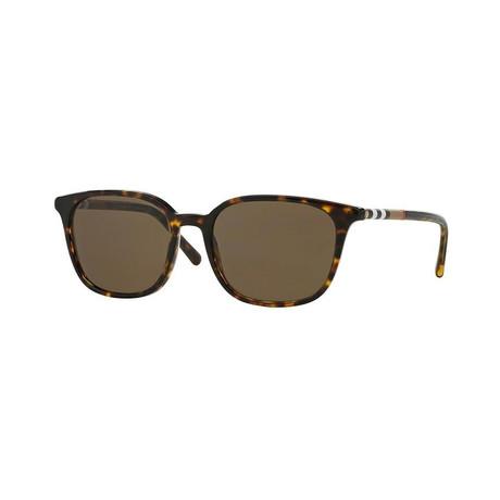 Burberry // Men's Rectangular Sunglasses // Havana + Brown