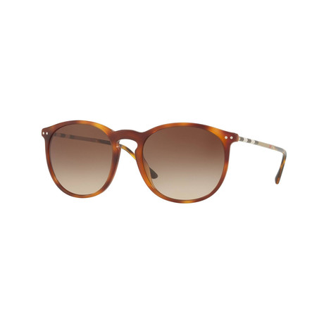 Burberry // Unisex Aviator Sunglasses // Light Havana + Brown