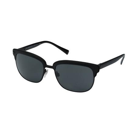 Burberry // Men's Aviator Sunglasses // Black + Gray