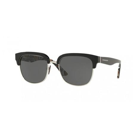 Burberry // Men's Round Sunglasses // Black + Gray