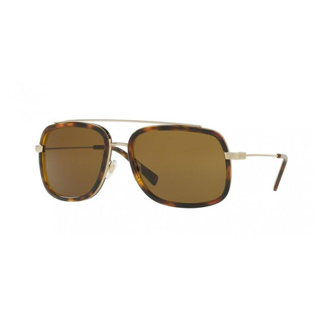 Versace // Men's Aviator Sunglasses // Pale Gold + Havana