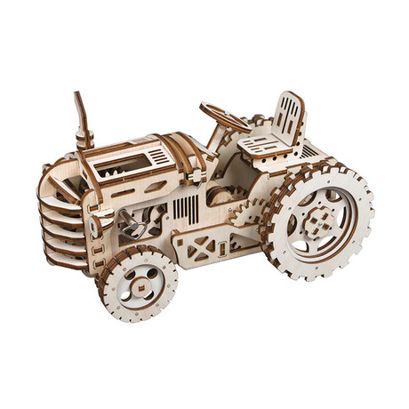 DIY Mechanical Gear 3D Wooden Puzzle // Tractor