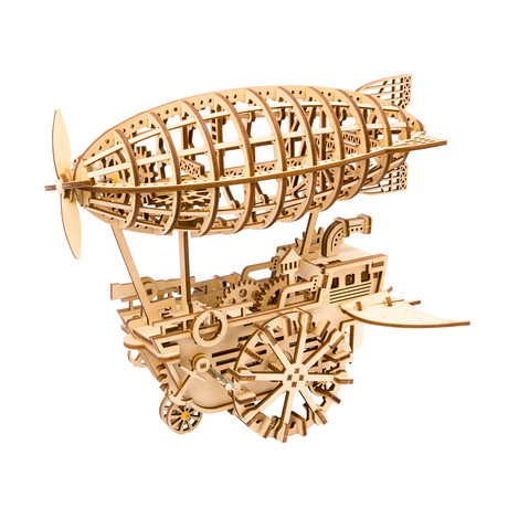DIY Mechanical Gear 3D Wooden Puzzle // Airship