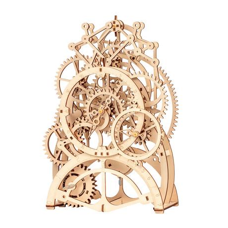 DIY Mechanical Gear 3D Wooden Puzzle // Pendulum Clock