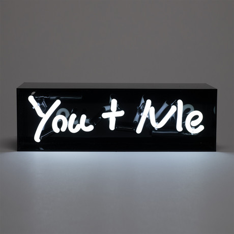 You + Me Acrylic Box Neon Light