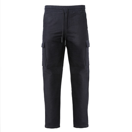 Woven Cargo Draw Pant // Charcoal (S)