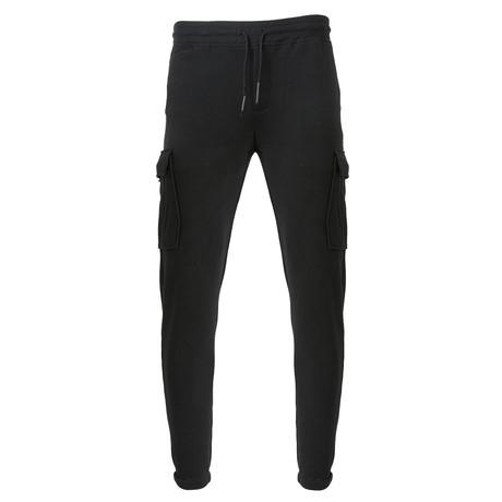 Knit Cargo Draw Pant // Black (S)