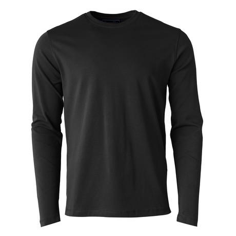 Long-Sleeve Crew Basic Tee // Black (S)