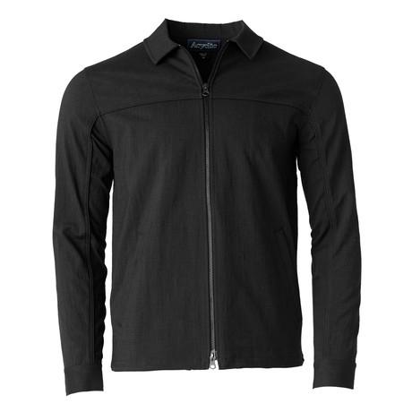 Woven Zip Work Jacket // Black (S)