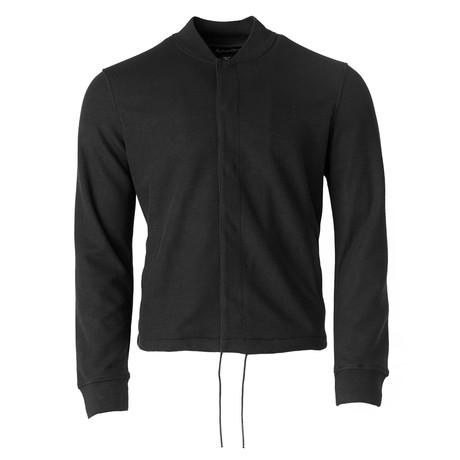 Knit Snap Coach Jacket // Black (S)