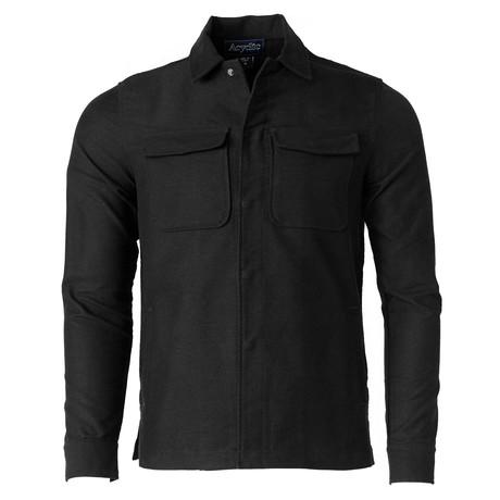 Double Pocket Shirt Jacket // Black (S)