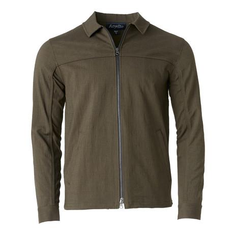 Woven Zip Work Jacket // Olive (S)