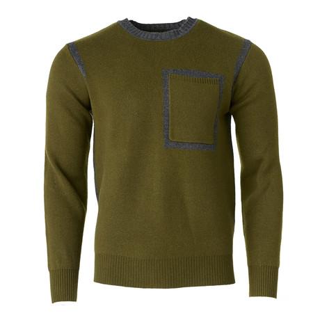 Contrast Seam Sweater // Olive (S)
