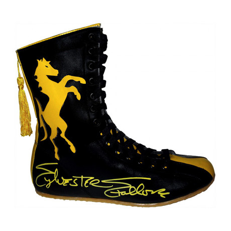 Sylvester Stallone // Autographed Right Boot Boxing Shoe