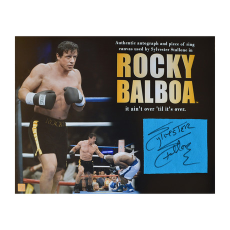 Rocky Balboa // Autographed Ring Canvas Square