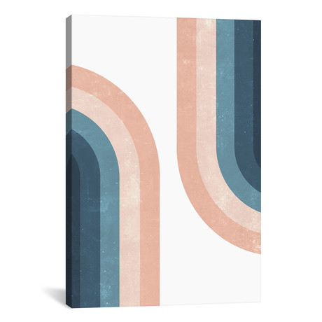 "Vintage Rainbow // Emanuela Carratoni (12""W x 18""H x 0.75""D)"