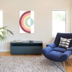 "Circular Rainbow // Emanuela Carratoni (12""W x 18""H x 0.75""D)"