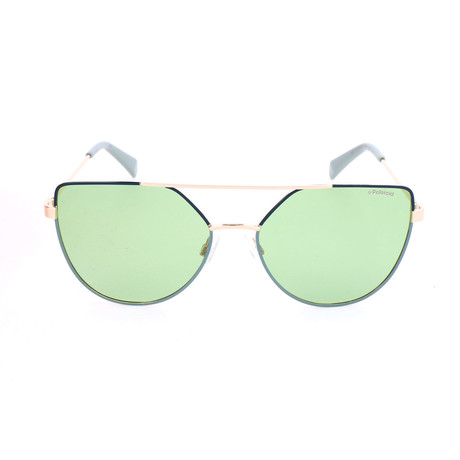 Polaroid // Women's PLD6057S Sunglasses // Green + Gold