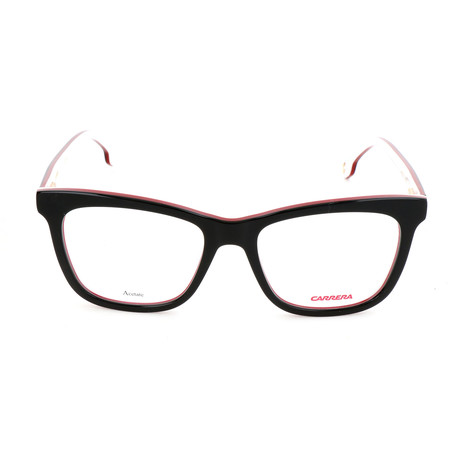 Carrera // Unisex CA1107 Optical Frames // Black + Red