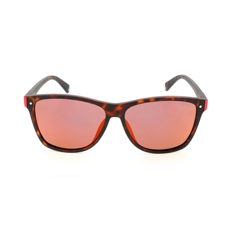 Polaroid // Unisex PLD6035FS Sunglasses // Matte Havana + Orange