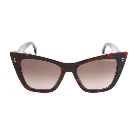 Carrera // Women's CA1009S Sunglasses // Red Havana + Brown