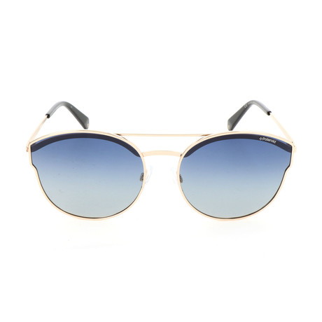 Polaroid // Women's PLD4057S Sunglasses // Gold + Blue