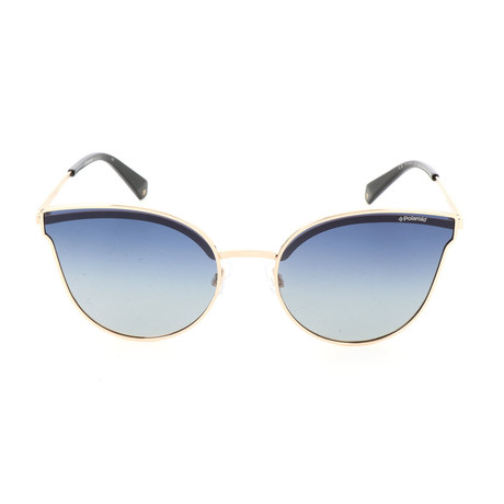 Polaroid // Women's PLD4056S Sunglasses // Gold + Blue
