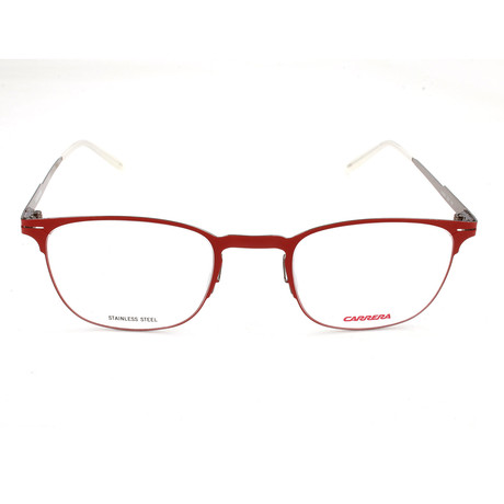 Carrera // Men's CA6660 Optical Frames // Matte Dark Red