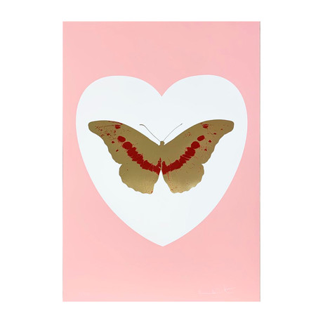 Damien Hirst // I Love You - White/Pink/Cool Gold/Poppy Red // 2015
