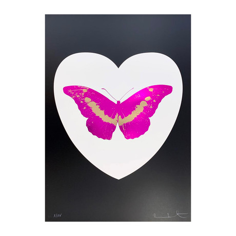 Damien Hirst // I Love You - White/Black/Fuchsia/Cool Gold // 2015